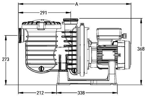 Насос 5P6R SEAW размеры