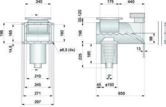 PAHLEN нерж. сталь с удлиненной горловиной (под бетон) размеры