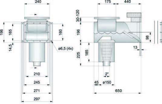 PAHLEN нерж. сталь с удлиненной горловиной (под пленку) размеры