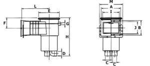 VA 210 х 160 с удлиненной горловиной размеры