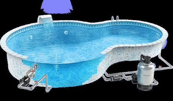 Расчет размера бассейна