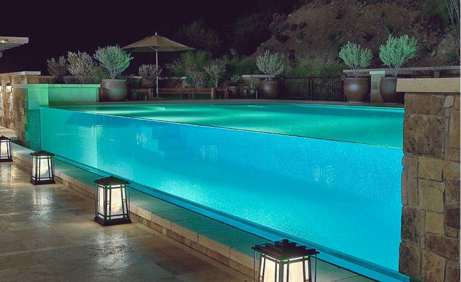 Awesome swimming pool glass design ideas