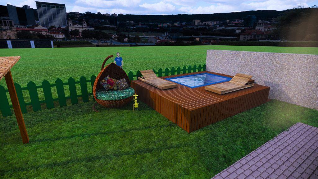 3Д модель бассейна